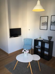 Photo for Apartment in the heart of town in the DRC T2 renovated by architect, air conditioned, quiet.