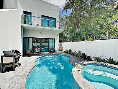 Photo for New Listing! Expansive Designer Beach Retreat w/ Pool, Spa & Balconies