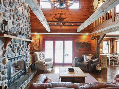 Photo for /NEW LISTING/ Stunning Log Retreat nestled in native prairie/woodland setting