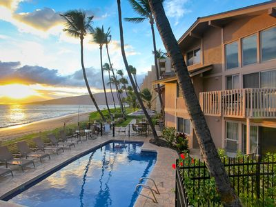 Photo for Kihei Sands Beachfront Condo B10 on Maui's Beautiful Sugar Beach!