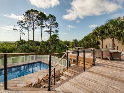 Photo for 32 Sand Dollar | Beautiful OCEANFRONT Beach Home | PRIVATE Pool | Wedding Friendly | Pet Friendly