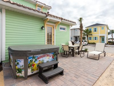 Photo for Private Hot tub! Poolside Tiki Bar on-site! Minutes to Disney!