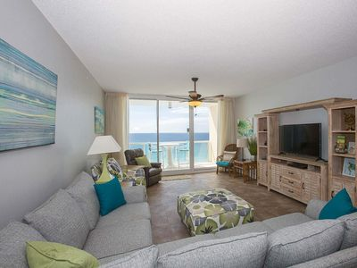 Photo for Beachfront Condo in Navarre. Floor to Ceiling Windows and Free Beach Service!