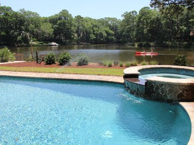 Photo for Charming 3 Br Home, Private Pool And Dock On Serene Lagoon In Palmetto Dunes.