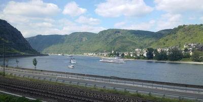 view out of the window to rhine river