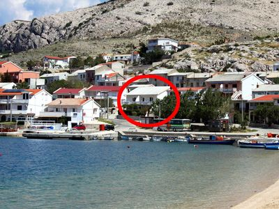 Photo for Apartment in Metajna (Pag), capacity 6+0
