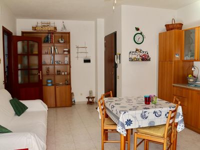 Photo for Costa apartment in Alghero with air conditioning, balcony & lift.