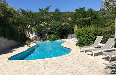 Photo for Gulf of Saint Tropez, French riviera villa of charm with a heated swimming pool