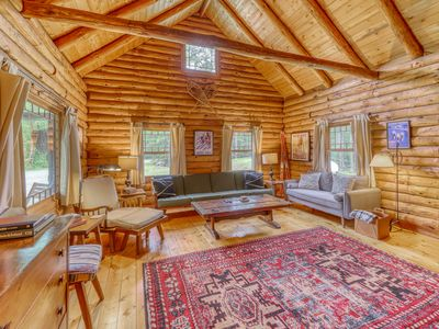 Photo for Dog-friendly cabin w/ fireplace - close to skiing/shopping/dining