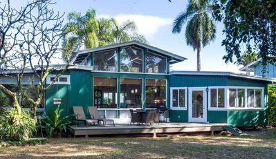 Photo for Lokelani-a beautiful 3br/3ba home 2 blocks from the beach in Hanalei with AC