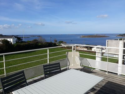 Photo for Panoramic sea view apartment for 4 people- LANDEDA