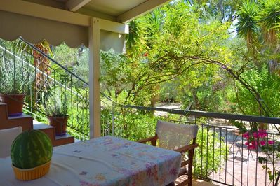 Kefalonia apartments: We hope, you will enjoy the veranda & fruit garden around