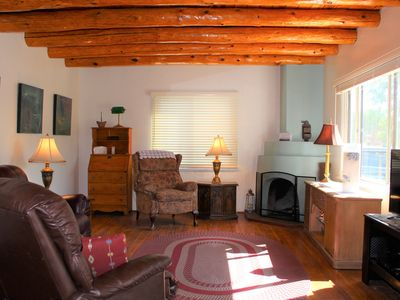 Photo for 3  Bedroom Home With Lovely Vigas And Wood Floors - 3.5 Miles To Santa Fe Plaza!
