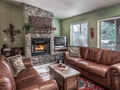 Photo for Private Cabin w/ WiFi, Fireplace, Grill, Big Screen TV & Outdoor Hot Tub