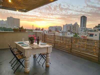 Photo for ♛ Royal Penthouse 1BR Rooftop + Sea-View Terrace ♛