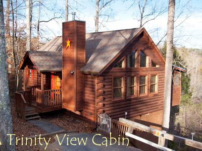 A Trinity View } Jacuzzi and Hot tub, arcade game, screened porch\mountain views