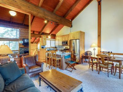 Photo for Cozy condo w/ mountain views, free shuttle & shared pool, hot tub, sauna & more!