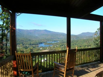 Photo for Logan's Ridge: Mountain Home, Spectacular Lake, Mtn Views,