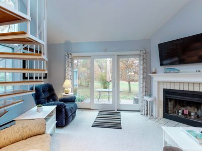 Photo for NEW LISTING! Cozy condo w/ shared pools - near beaches, bike path & Rail Trail!