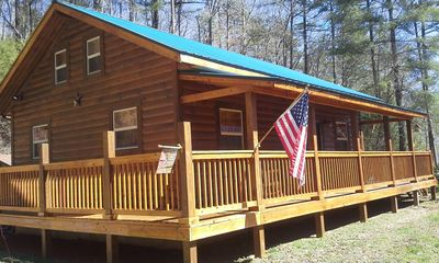 Photo for Cozy log cabin near Nantahala rafting, Fontana Lake, Cherokee, Tail of Dragon