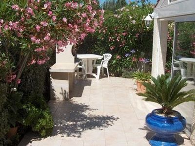Photo for bright and neat villa in Cap d 'Agde, 250m from the beaches. 60m2 terrace.