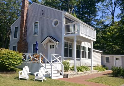 Renovated exterior w) private, upper deck off master bedroom & large lower deck