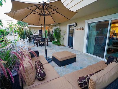 Photo for $199 July Special Large Private Patio - 1 Block to Beach/Village, A/C-Gar.