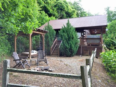 Photo for Dreamcatcher-Watershed Cabins-Fire pit with Outdoor Bed swing