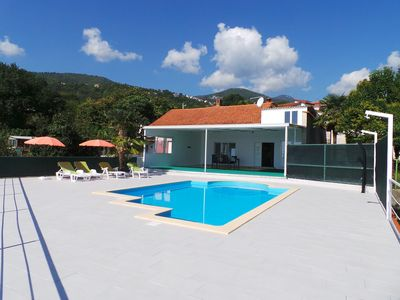 Photo for Holiday house with sea view and pool