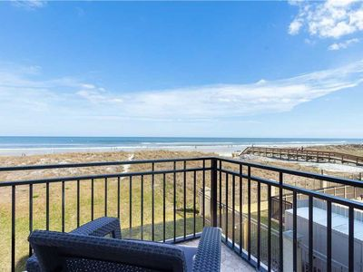 The view from one of the balconies -- dunes, sea, and sky! - Golden Star has no fewer than 3 separate balconies, including a panoramic 3rd-floor vista. Wake up each morning to splendid sunrises and sweeping beach views!
