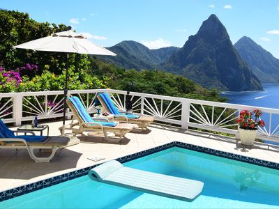 Photo for Serene, sophisticated, spacious Anse Chastanet villa. Stunning views! Staff.
