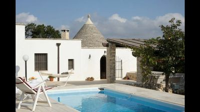 Photo for Beautiful Trullo with private pool, easy walking  to UNESCO site of Alberobello