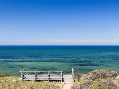 Photo for Spectacular views of Cape Cod Bay on a private association beach!