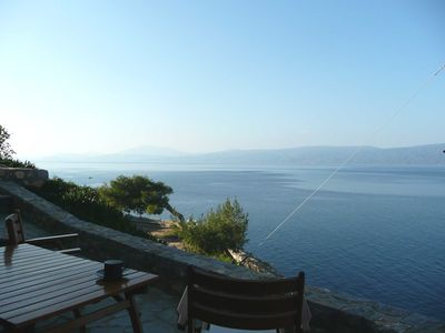 Photo for Waterfront stone villa, large terrace, amazing ocean view, easy access no steps