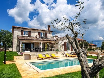 Photo for new in 2016: attractive Villa for 8 with salt water pool an panoramic view