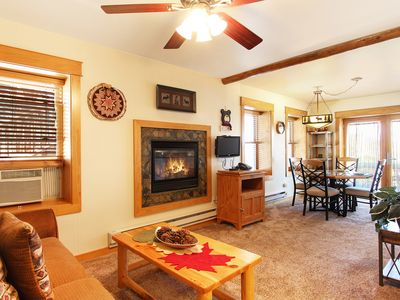 Photo for Little Matterhorn 17A - 1 Br poolside condo with fireplace and mountain views!
