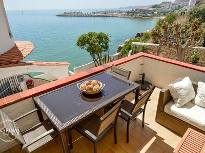 Photo for Sitges Barcelona Apartment On Cliff Sea, Pool And Relax