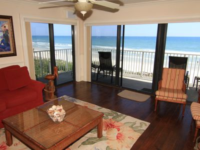 Photo for Luxurious Oasis, Relaxing 3/2 Corner Condo, Oceanfront, No-Drive Beach!