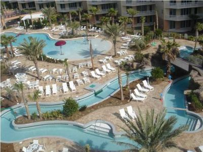 Photo for Ground Floor Steps to Gulf B106 Private Patio overlooking Lazy River Ice Maker