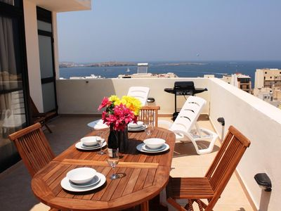 Photo for Holiday apartment Bugibba for 2 - 5 persons with 1 bedroom - Penthouse holiday apartment