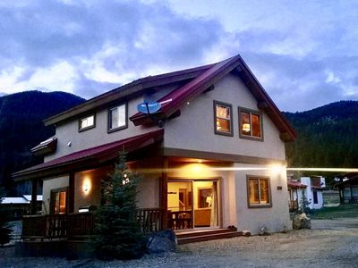 Photo for On River w/ Hot Tub* Luxury Ski Chalet- Great Views,  2 Living, Fiber Wi-Fi!