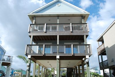 Plenty of space to enjoy the views and breeze.  Only steps away from the beach.