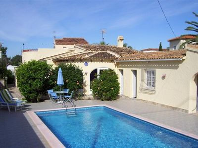 Photo for Detached villa private pool gardens 500m from beach and 2km from the village
