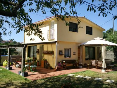 Photo for HOUSE NEAR BEACH LADEIRA - BAYONA, WITH GARDEN, BARBECUE, SWIMMING POOL,