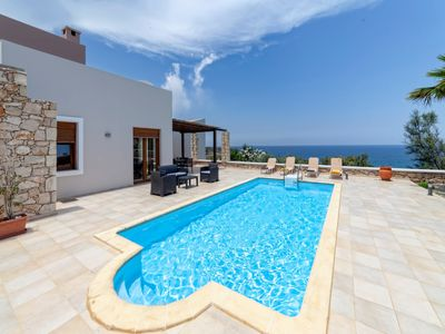 Photo for Karena Villa with private pool, panoramic sea view