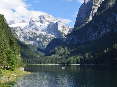 Photo for Holiday apartment in Gosau with a view of the mountains - near ski resort Dachstein-West