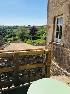 Photo for Quiet country retreat, superb views, great walks, 4 m. from Bath