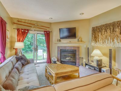 Photo for Quaint, dog-friendly condo with resort pool and hot tub, close to skiing!