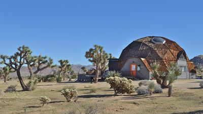 Photo for JOSHUA TREE GEODESIC DOME HOUSE 4bd 2.5 bath Jacuzzi and STAR gazing