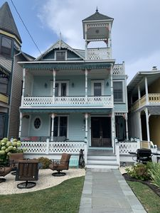 Photo for 5 Bedroom, 3 1/2 Bath Renovated Victorian Gem Only  4 Houses From The Beach!